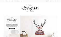 Sugar Blogger Template. Modern and minimalist template give amazing look to your blogger blog. Very attractive design and more…