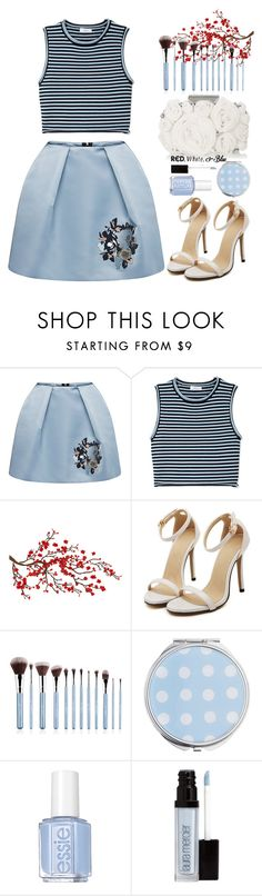 """""""MSGM Duchess Satin Mini Skirt"""" by thestyleartisan ❤ liked on Polyvore featuring MSGM, A.L.C., Matthew Williamson, Miss Selfridge, Essie, Laura Mercier, redwhiteandblue and july4th"""