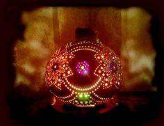 Sold out....79 €  Authentischen Kürbis Lampen Autentici Lampade Zucca Authentic Gourd Lamp