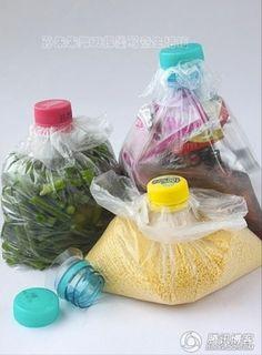 Conservar alimentos reaproveitando uma garrafa PET - Faça Você Mesmo