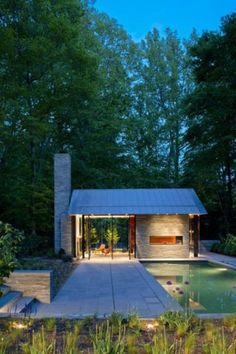 Very simple house with a pinch of a pool..