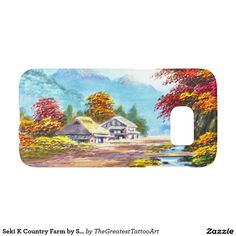Seki K Country Farm by Stream in Autumn scenery Samsung Galaxy S7 Case