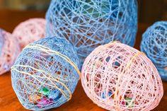 String Easter Egg Decorations!