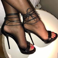 Black Stiletto Heels, Pink High Heels, Strappy High Heels, Ankle Strap Heels, High Heel Boots, Shoes Heels, Pantyhose Heels, Stockings Heels, Glow Shoes