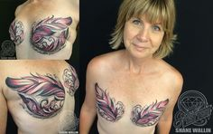 15 Tattoos That Transformed Breast Cancer Scars Into Artwork
