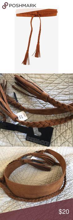 Express Obi Belt Brown suede obi belt from Express Express Accessories Belts