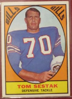 1967 Topps Tom Sestak Buffalo Bills #27 Football Card http://clektr.com/bzdY