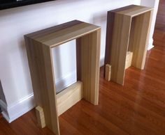 Contemporary Solid Wood Bar Stool by New8th on Etsy