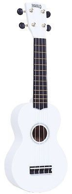 """Mahalo Rainbow Series Soprano Ukulele White Includes Carrying Case """"The World's biggest selling ukulele, the Mahalo U30 has now been totally re-designed and upgraded into this dazzling range – The Mah"""