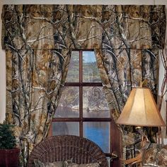 Realtree All Purpose Curtains and Valance- Camouflage Hunting Decor Camo Curtains, Valance Curtains, Valances, Bedroom Curtains, Rustic Curtains, Camo Bathroom, Bathroom Crafts, Camo Furniture, Furniture Decor