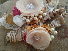 Lovely Heirloom Wedding Garter Set by CherryBlosomBoutique on Etsy, $54.95