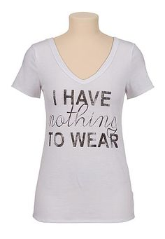 I have nothing to wear v-neck tee (original price, $24) available at #Maurices