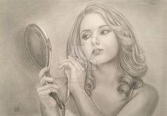 DaisyPearl7's DeviantArt Gallery #pencildrawing #realisticdraw #woman #blackandwhite #girl #drawing #portrait #portraitdrawing #female #hair #hiper #hiperrealistic #retrato #desenhocarvão #desenho #hiperrealismo #desenhorealista #mulher #cabelo #pretoebranco #dama #beleza #lady #prettywoman #beauty #sensual #casal #couple #amor #love #inlove #apaixonada #sedução #espelho #mirror #beleza #vaidade