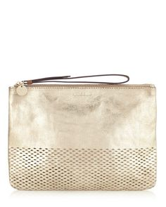 Buy Jigsaw Perforated Clutch Bag, Gold from our Handbags, Bags & Purses range at John Lewis & Partners. Cos Bags, Leather Trainers, Leather Pouch, British Style, Beautiful Bags, Crossbody Bag, Clutch Bags, Leather Craft, Real Leather
