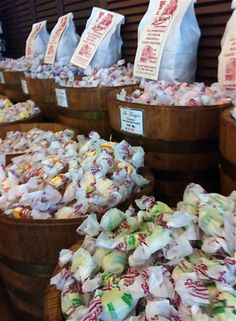 Saltwater taffy at Galveston's historic Candy Factory