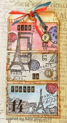 Kath's Blog......diary of the everyday life of a crafter: Vive La Difference... Tim Holtz 12 tags of 2015