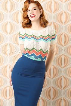 Bunny Joni Skirt in Navy Stunning Redhead, Boutique Shirts, Redhead Models, High Waisted Pencil Skirt, Fitness Fashion, Retro Vintage, Classy, Elegant, Bunny