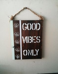 Good vibes only /peace sign / anthropologie / urban outfitters decor/ boho…
