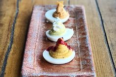 Deviled eggs are the classic Southern party snack. Chef Murphy Vaughn at Silo in Nashville, TN, takes his deviled eggs up a notch in this crowd-pleasing recipe.