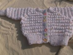 #Eirekavoknits Baby Cardigan Size 0 - 3mths approx #Handcrafted Baby Cardigan, Sweaters, Stuff To Buy, Fashion, Moda, Fashion Styles, Fasion, Sweater