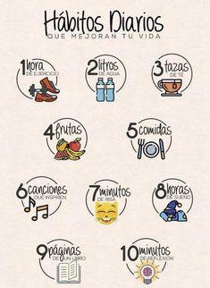 :) - Para empezar cada día mejorando el estilo de vida…:] Imágenes efectivas que le proporcionamos so - Healthy Tips, Healthy Habits, Autogenic Training, The Knowing, Good Habits, Life Motivation, Better Life, Self Improvement, Journal