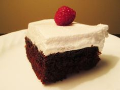 Chocolate Cake with Uncle Bud's Fluffy White Frosting