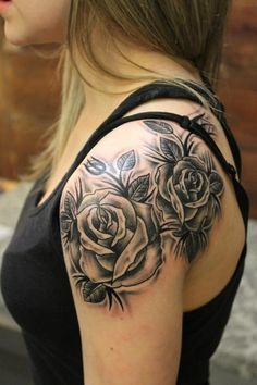 Black and Grey Roses not the style but the placement I like