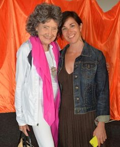95-year-old Tao Porchon-Lynch at the Nantucket Yoga Festival in July 2014.