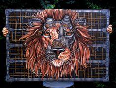 Detailed Steampunk Lion #Illustration by Paula Duță #art #inspiration
