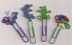 Tatting on paperclips (funny!)