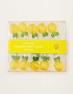 Sunnylife Pineapple String Lights , Neon Yellow   Aerie for American Eagle