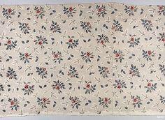 Fragment de coton imprimé, 1770-75. Semé de fleurs et de brindilles. Conservé au Met, New York, 26.265.89 a.