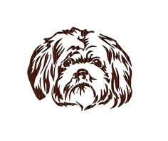 Shih-Tzu Silhouette – Designs by the Stitch Dog Silhouette, Silhouette Cameo Projects, Silhouette Design, Dog Themed Crafts, Dog Stencil, Wood Burning Stencils, Drawing Sketches, Dog Sketches, Shih Tzu Dog