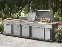 Ways To Choose New Cooking Area Countertops When Kitchen Renovation – Outdoor Kitchen Designs Modular Outdoor Kitchens, Outdoor Kitchen Design, Kitchen Modular, Basic Kitchen, Kitchen Sets, Home Design, Interior Design, Outdoor Kitchen Countertops, Granite Countertops