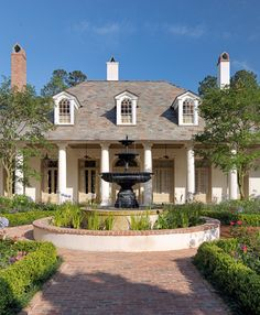 Architect Portfolio by Ken Tate Architect - Dering Hall Southern House Plans, Southern Homes, Acadian Style Homes, Creole Cottage, French Creole, New Orleans Homes, Dream House Exterior, House Exteriors, Plantation Homes