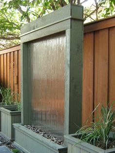 Make Your Own Outdoor Waterfall >> http://blog.diynetwork.com/maderemade/2015/07/20/7-gorgeous-water-features-to-cool-off-your-outdoors/?soc=pinterest
