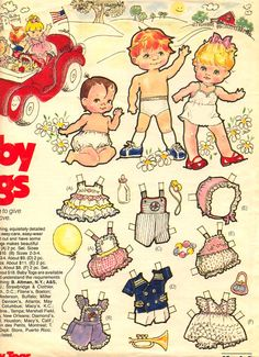 BABY TOGS ADVERTISING PAPER DOLLS « Marges8's Blog