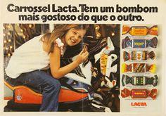 Propaganda da Lacta com sua caixa de bonbons selecionados: Carrossel. Diretamente de 1977.