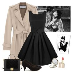 """""""Audrey Hepburn: Holly Golightly inspired"""" by divinitimarie on Polyvore featuring Harris Wharf London, Betsey Johnson, Henri Bendel and Oliver Gal Artist Co."""