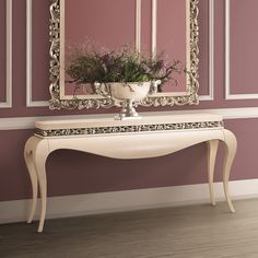 Luxury Cream Lacquered Console Table