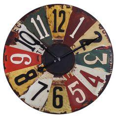 License Plates Wall Clock