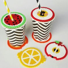 Fruit coasters and covers coaster hama beads by magicoldie