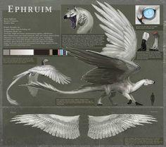 Reference - Ephruim by Allagar Mystical Animals, Mythical Creatures Art, Mythological Creatures, Magical Creatures, Creature Concept Art, Creature Design, Fantasy Beasts, Fantasy Art, Monster Concept Art