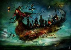 Flying ghost ship