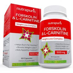 Optimal Forskolin with L-Carnitine Weight Loss Supplement 60 Capsules Pure Coleus Forskohlii Powder 500mg per Serving Fat Burner Maximum Energy to Enhance Physical Performance 100% Guarantee! * Discover this special product, click the image : Weight loss Supplements