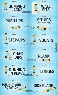 7 minute workout you can do at home. : 7 minute workout you can do at home. - More memes, funny videos and pics on Body Workout At Home, At Home Workouts, Morning Workout At Home, Short Workouts, Workout At Work, 7 Min Workout, Workout Plans, 7 Minute Workout Challenge, 7 Minute Abs