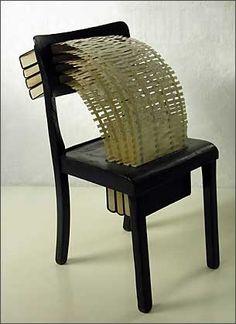 Lesung by Cornelia Konrads Cornelia Konrads, Book Installation, Thinking Chair, Book Sculpture, Unusual Art, Handmade Books, Texture Art, Land Art, Altered Books