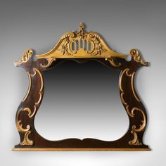 Lovely 19thc Antique French Regency Overmantle Mirror Pleasant To The Palate Antiques Mirrors