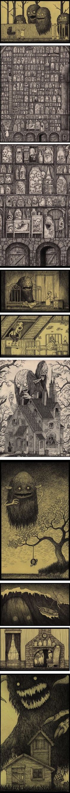 Don Kenn (AKA John Kenn Mortensen), who continues to fill Post-It pads and other odds and ends of office supplies with pen drawings of his d...