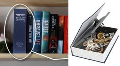 "Keep your valuables safe with this high-security ""book."" 